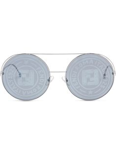 Fendi солнцезащитные очки Runaway в круглой оправе