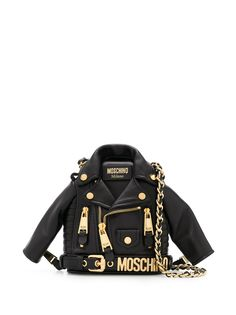 Moschino сумка через плечо в форме байкерской куртки
