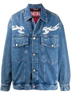Diesel джинсовая куртка с эффектом гравировки