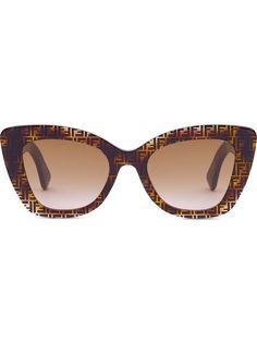 Fendi солнцезащитные очки F is Fendi в оправе кошачий глаз