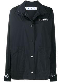 Off-White легкая куртка с нашивкой-логотипом