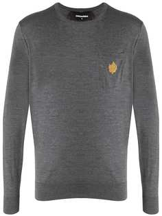 Dsquared2 свитер с круглым вырезом и логотипом