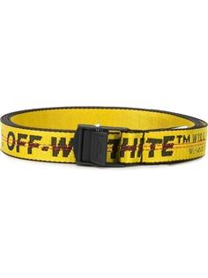 Off-White узкий ремень Industrial с логотипом