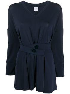 Max Mara блузка с V-образным вырезом и поясом