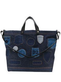 Dsquared2 джинсовая сумка-тоут с нашивками