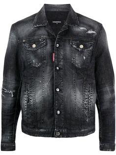 Dsquared2 джинсовая куртка с прорезями