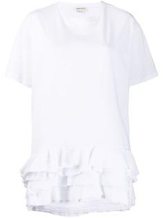 Alexander McQueen футболка с оборками на рукавах