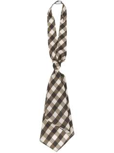 Brunello Cucinelli многослойный галстук в клетку гингем