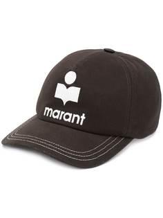 Isabel Marant Tyron logo patch baseball cap
