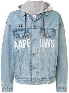 AAPE BY *A BATHING APE® джинсовая куртка оверсайз