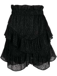 IRO юбка с оборками и вышивкой