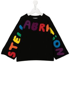 Stella McCartney Kids джемпер Stellabration с бахромой