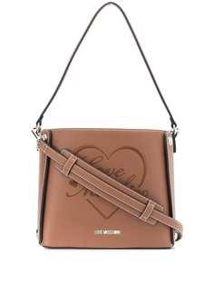 Love Moschino сумка-тоут с вышитым логотипом