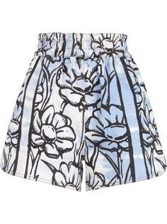 Fendi шорты с цветочным принтом из коллаборации с Joshua Vides