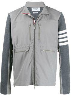 Thom Browne куртка на молнии с полосками 4-Bar