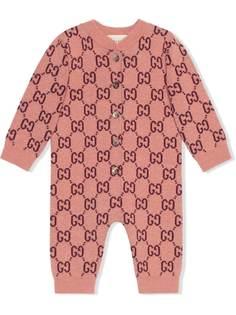 Gucci Kids трикотажный комбинезон с узором GG