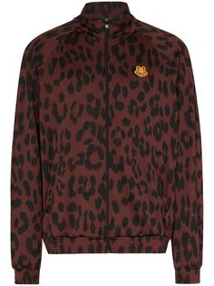 Kenzo спортивная куртка с леопардовым принтом
