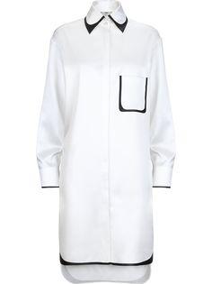 Fendi платье-рубашка с контрастной окантовкой