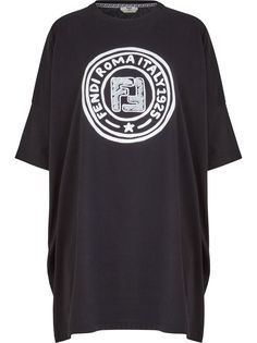 Fendi длинная футболка с логотипом