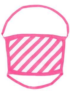 Off-White полосатая маска для лица