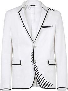 Fendi габардиновый пиджак из коллаборации с Joshua Vides