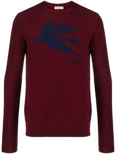 Etro свитер с жаккардовым логотипом