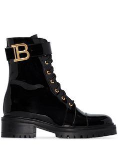 Balmain лакированные ботинки Romy 50