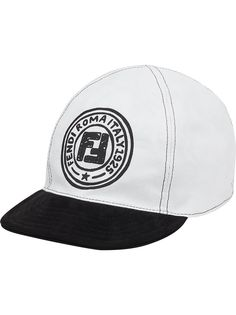 Fendi двусторонняя бейсболка с логотипом