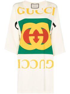 Gucci футболка оверсайз с логотипом Interlocking G
