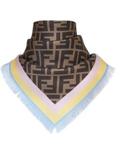 Fendi two-sided square foulard