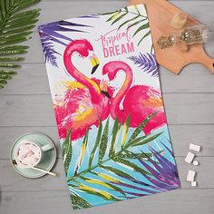 """Кухонное полотенце Доляна """"Фламинго"""", 35х60 см"""