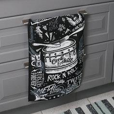Кухонное полотенце Доляна Rocknroll, 35х60 см