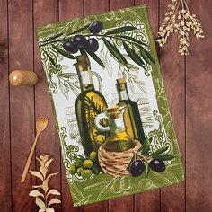"""Кухонное полотенце Доляна """"Оливки"""", 35х60 ±2 см"""