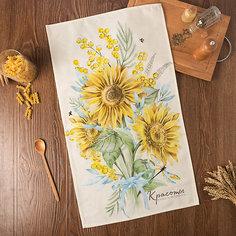 """Кухонное полотенце Этель """"Солнечные цветы"""", 40х73 см"""