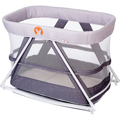 Кровать-колыбель Baby Hit Rocking Crib, светло-серая