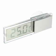 Термометр электронный на присоске прозрачный на батарейках, пластик Luazon Home