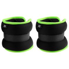 Утяжелитель неопреновый 1 кг (вес пары 2 кг), цвет чёрный/зелёный Onlitop