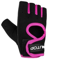 Перчатки для фитнеса onlitop, размер l, неопрен, цвет чёрный/розовый
