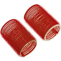 Dewal, Бигуди-липучки, красные, 13 мм