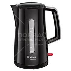 Чайник электрический пластиковый Bosch TWK 3A013, 1.7 л, 2.4 кВт, черный