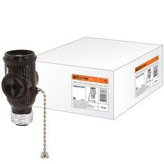 Патрон-розетка TDM Electric SQ0335-0026 карболитовый с выключателем E27 чёрный