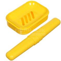 Набор для ванной дорожный CK76-6 (мыльница и футляр для зубной щетки)