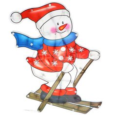 Панно декоративное Рождественский снеговик SY16-156, 40 см, 30 ламп
