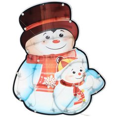 Панно декоративное Рождественский снеговик SY16-157, 40 см, 30 ламп