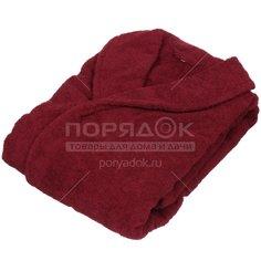 Халат махровый женский 220 бордовый, р. 46 Вышневолоцкий текстиль