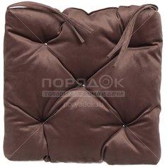 Чехол на стул Классика с завязками 360101, 40х40 см, коричневый