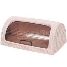 Хлебница пластиковая Dunya Plastik 05330 пепельно-розовая, 41.4x26.9x18.1 см