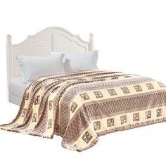 Плед Velsoft полутораспальный (150х200 см) микрофибра, Абстракция молочный sp-06 другие бренды