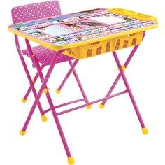 Набор детской мебели Nika Маша и медведь Азбука 3 КУ2П/3 (стол, стул, пенал)