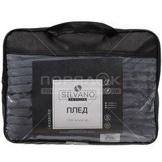 Плед Silvano двуспальный (180х200 см) полиэстер, Полоски темно-серый SP-138